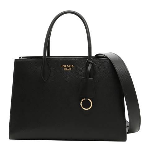 Prada Black Saffiano City Tote Bag