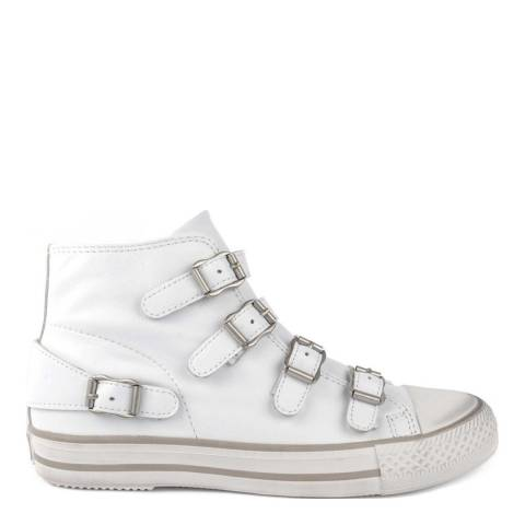 ASH White Leather Venus Buckle Sneakers