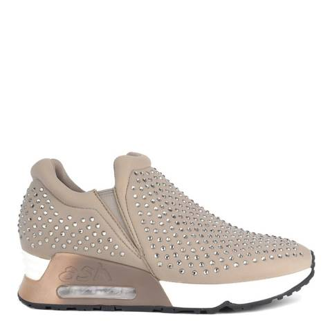 ASH Taupe Neoprene & Gemstone Lifting Sneakers