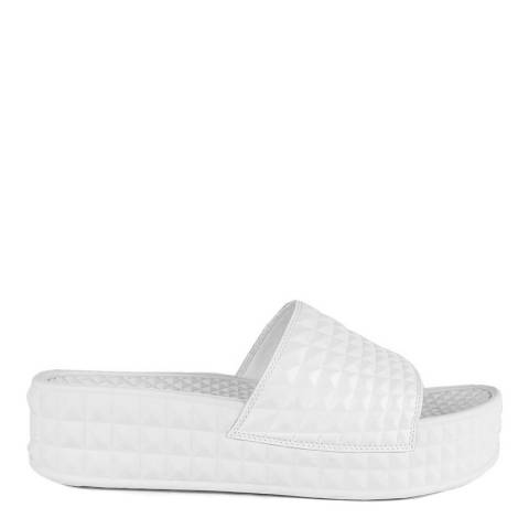 ASH White Studded Scream Slides