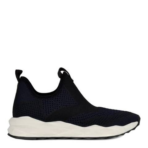 ASH Midnight Navy And Black Stretch Knit Shake Sneakers