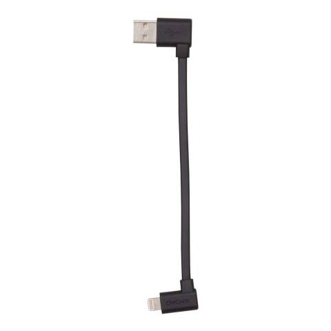 Knomo Black Lightening Cable 90 Degree Usb Cable