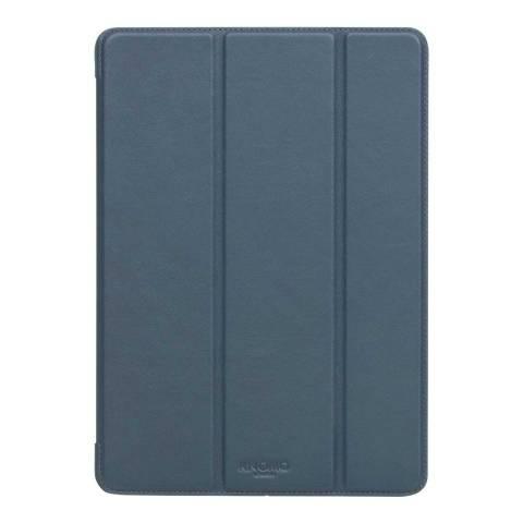 Knomo Blue Ipad Pro Leather Tri-Fold Folio Case 9.7 Inch