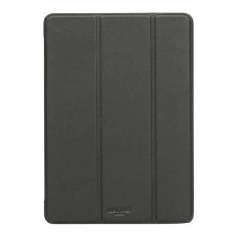 Knomo Black 9.7'' Ipad Pro Leather Tri-Fold Folio Case