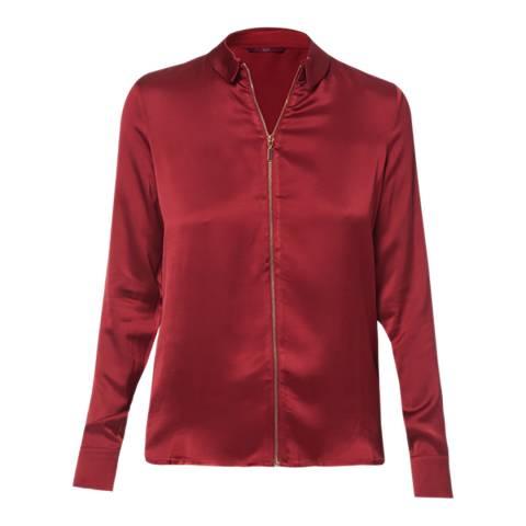 WTR London Burgundy Victoria Zip Shirt