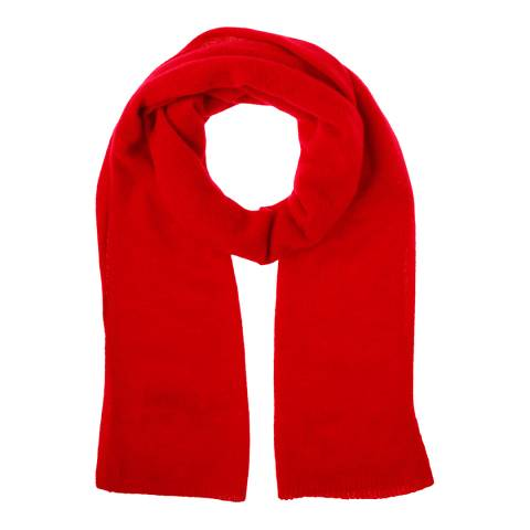 Country Cashmere By Scott and Scott Red Cashmere Lizzie Scarf