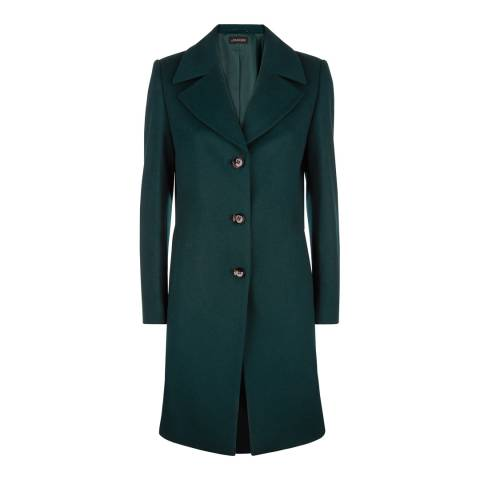 Jaeger Forest Three Button Wool Blend Coat