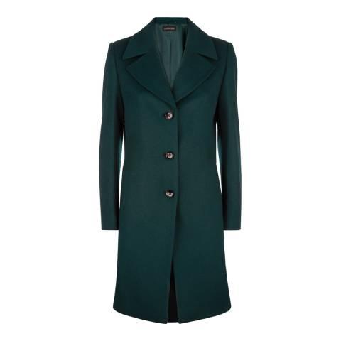 Jaeger Forest Three Button Wool Blend Coat