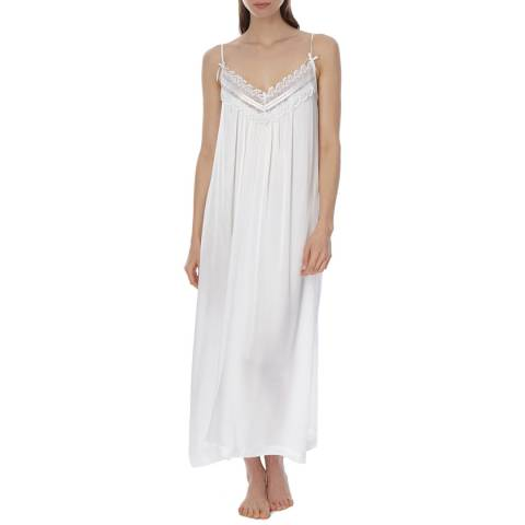 Laycuna London Ivory Silk Maxi Night Dress