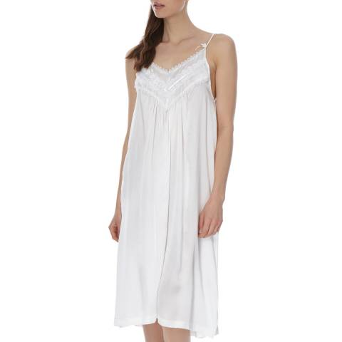 Laycuna London Ivory Silk Night Dress