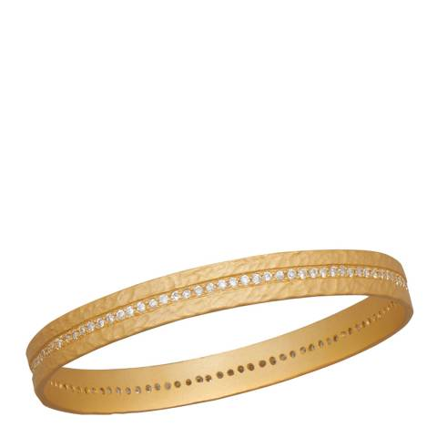 Black Label by Liv Oliver Gold Embellished Eternity Bangle