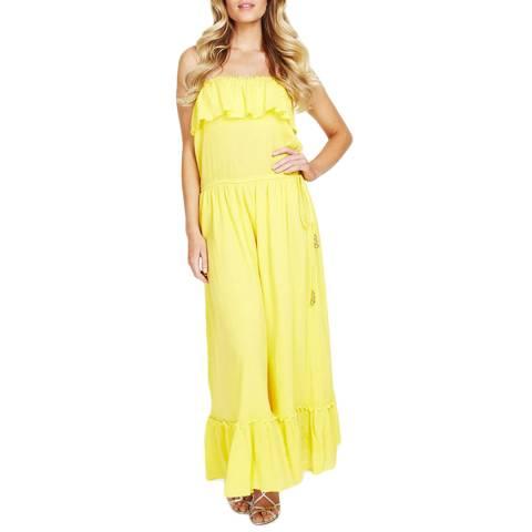 Elizabeth Hurley Beach Yellow Marietta Maxi Dress