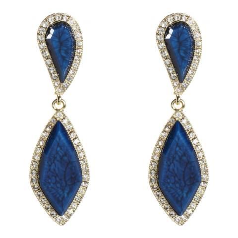 Amrita Singh Blue Lapis Hampton Classic Two Tier Earrings
