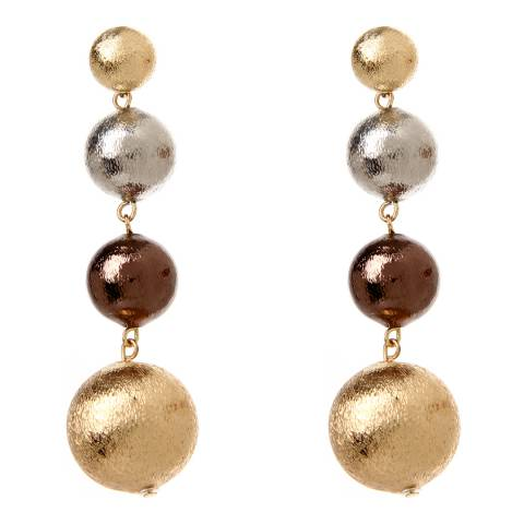 Amrita Singh Multi 4 Tier Graduated Ball Earrings