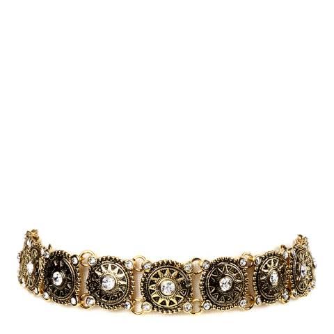 Amrita Singh Gold/Clear Rama Crystal Choker