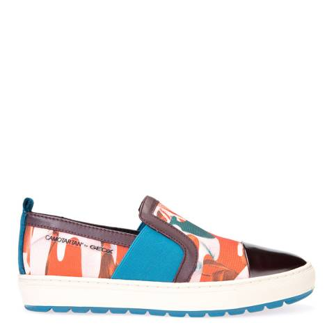 Geox Women's Multi Coloured Breeda Slip On Sneakers