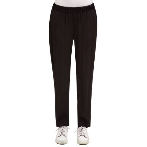 Charli Black Marianne Cotton/Wool Blend Trousers