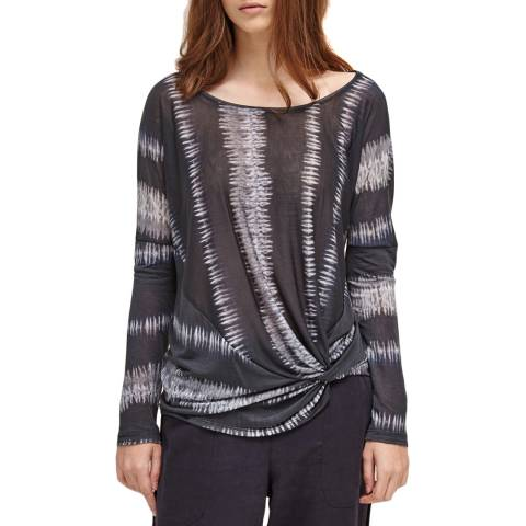 Charli Deep Grey/Off White Zigzag Clare Top