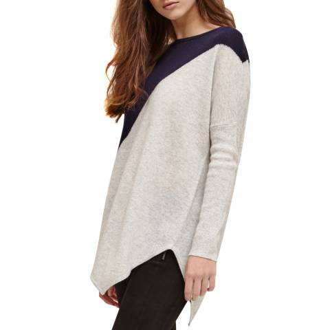 Charli Navy/Pearl Colour Block Kai Jumper
