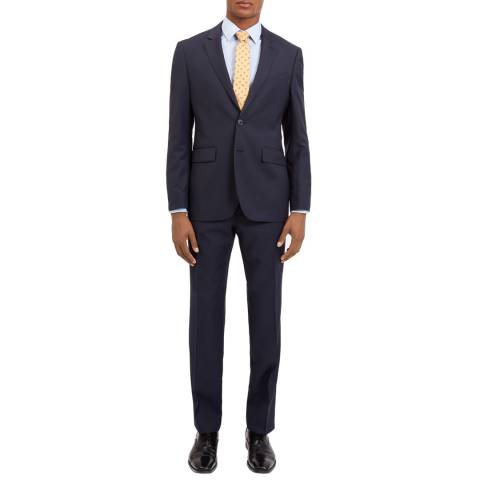 Jaeger Deep Navy Birdseye Regular Wool Blend Suit