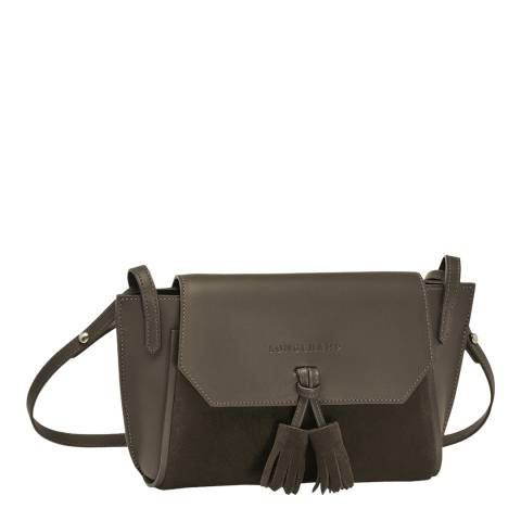 Longchamp Khaki Penelope Soft Leather Cross Body Bag