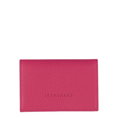 Longchamp Rose Pink Foulonne Leather Card Holder
