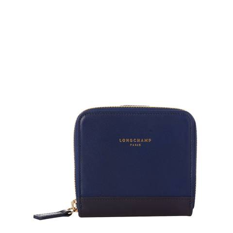 Longchamp Navy 2.0 Compact Leather Wallet