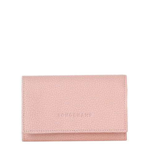 Longchamp Powder Pebbled Leather Coin Purse