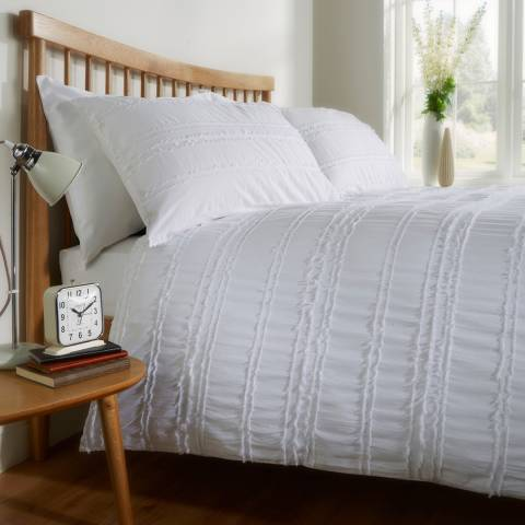 Behrens Mayfair Double Duvet Cover Set, White