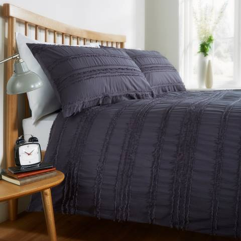 Behrens Mayfair Double Duvet Cover Set, Graphite
