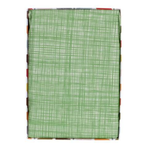 Orla Kiely Grass Green Single Fitted Sheet Scribble Stem Design
