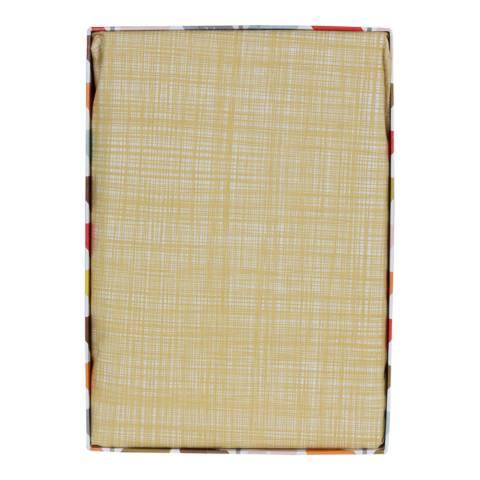 Orla Kiely  Corn Yellow Scribble Stem King Fitted Sheet