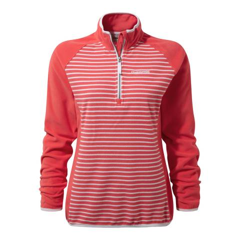Craghoppers Watermelon Tille Half Zip Fleece