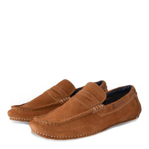 Lambretta Brown Tonic Suede Driving Shoes