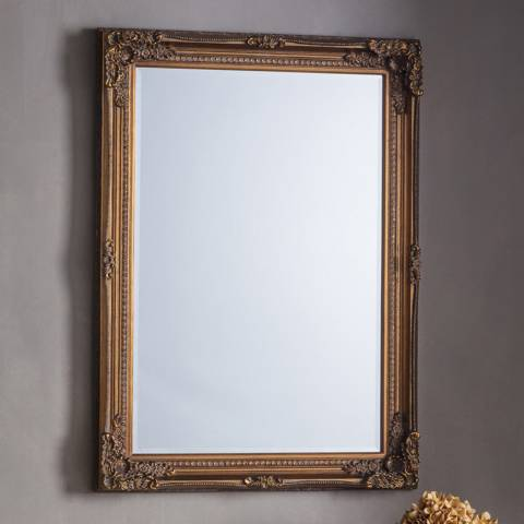 Gallery Bronze Rushden Wall Mirror 108x78cm