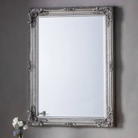 Gallery Silver Rushden Rectangle Mirror 78x108cm