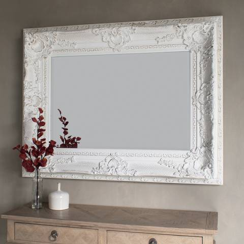 Gallery Vintage Cream Westminster Mirror 129.5 x 99cm