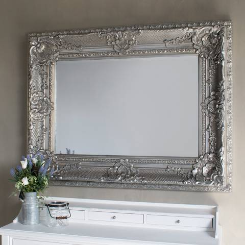 Gallery Silver Westminster Mirror 129.5 x 99cm