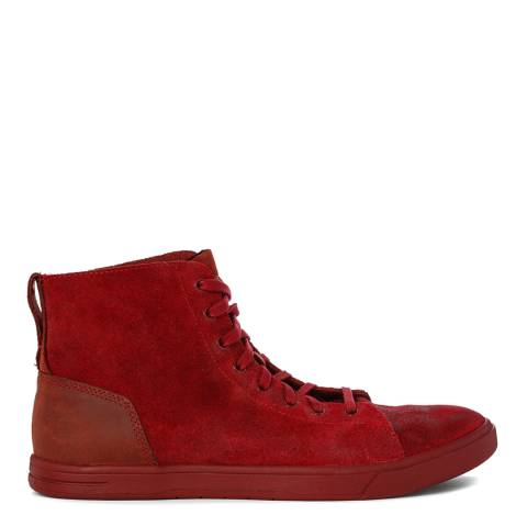 UGG Mens Wine Leather Steiner Boots