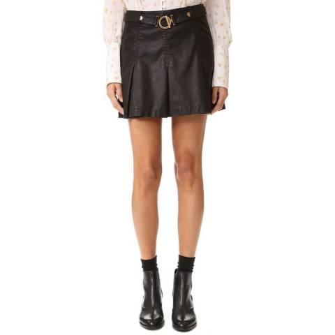 Free People Black But I Love It Vegan Leather Skirt