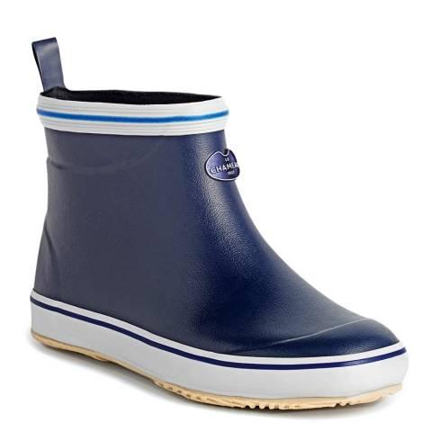 Le Chameau Mens's Marine Blue Brehat Chelsea Boots