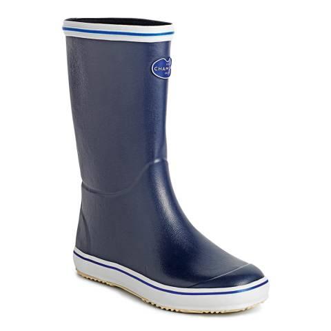 Le Chameau Women's Marine Blue Brehat Boot