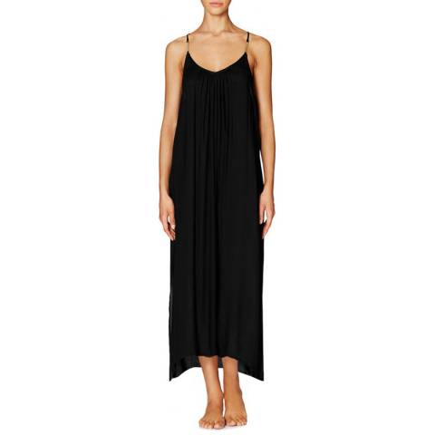 Heidi Klum Swim Black Ostia Sunrise Long Coverup