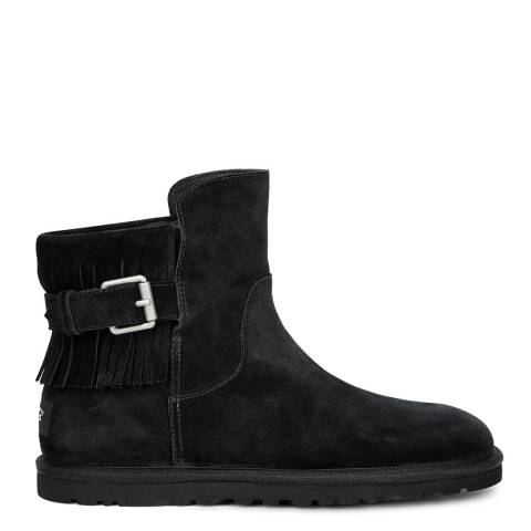 UGG Black Suede Cara Low Boot