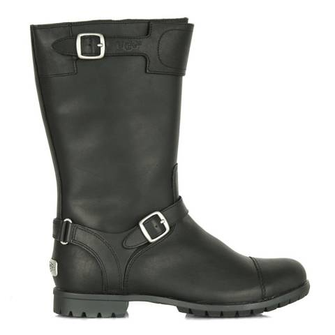 UGG Black Leather Gershwin Boot