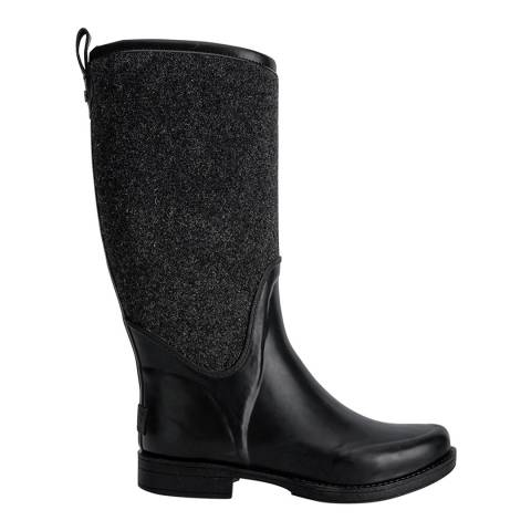 UGG Black Rubber And Felt Reignfall Wellie