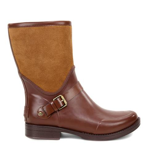 UGG Brown Rubber Sivada Short Wellie