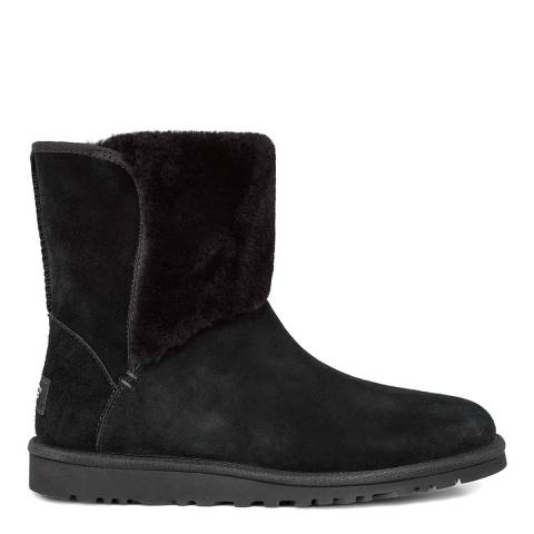 UGG Black Suede Caitlin Mid Sheep Boot