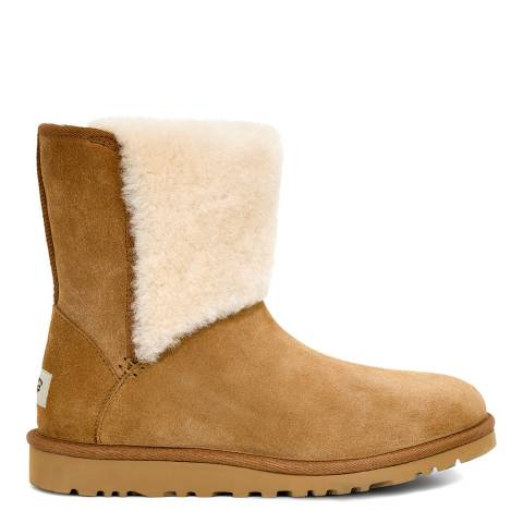 UGG Chestnut Suede Caitlin Mid Sheep Boot