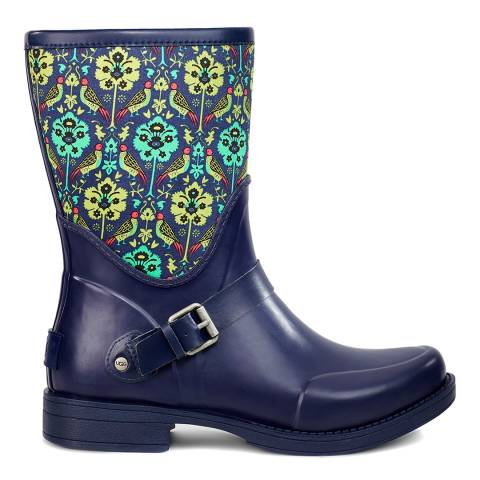 UGG Navy/Print Sivada Liberty Short Wellie